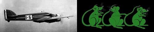 3匹の緑ネズミ
